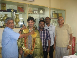 GM M.Shyamsundar at AICF Office