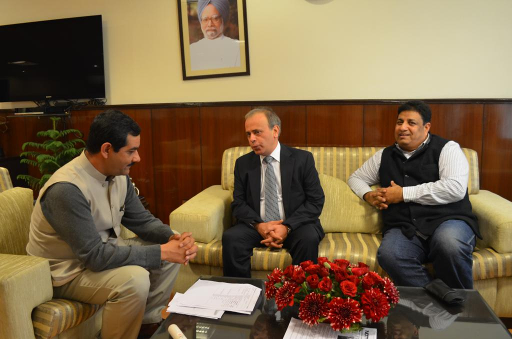 Discussion with Mr. Jitendra Singh, Hon'ble Sports Minister Government of India