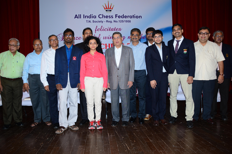 Chess Olympiad 2014 Felicitation