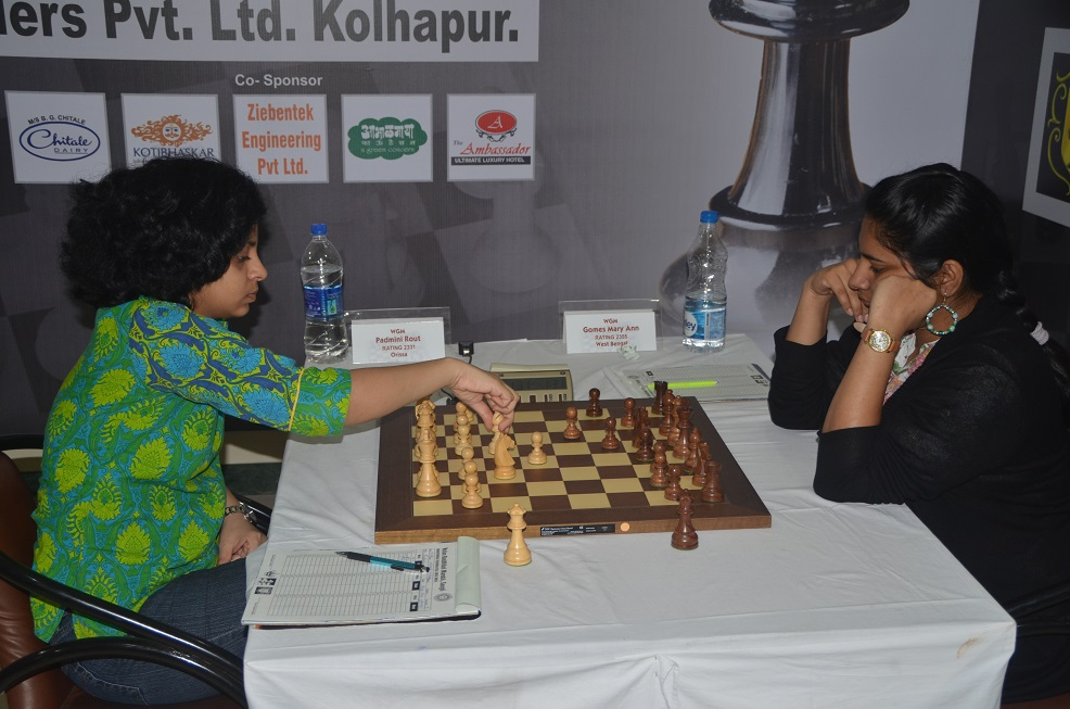 2nd table WGM Padmini Rout (W) & WGM Mary Ann Gomes (B)1