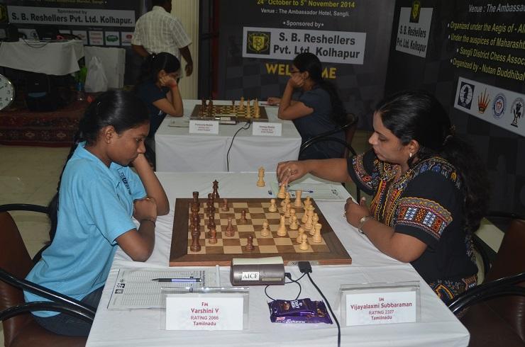 3rd table IM Vijayalakshmi Subaraman (W) & Varshini V (B)