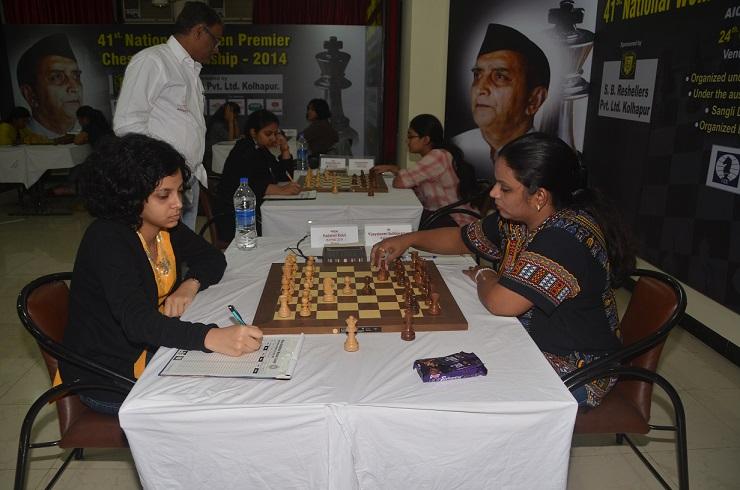 WGM Padmini Rout (W)  & IM Vijayalakshmi (B)