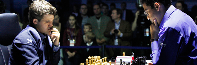 Carlsen Draws Anand With Ease In Game Eight
