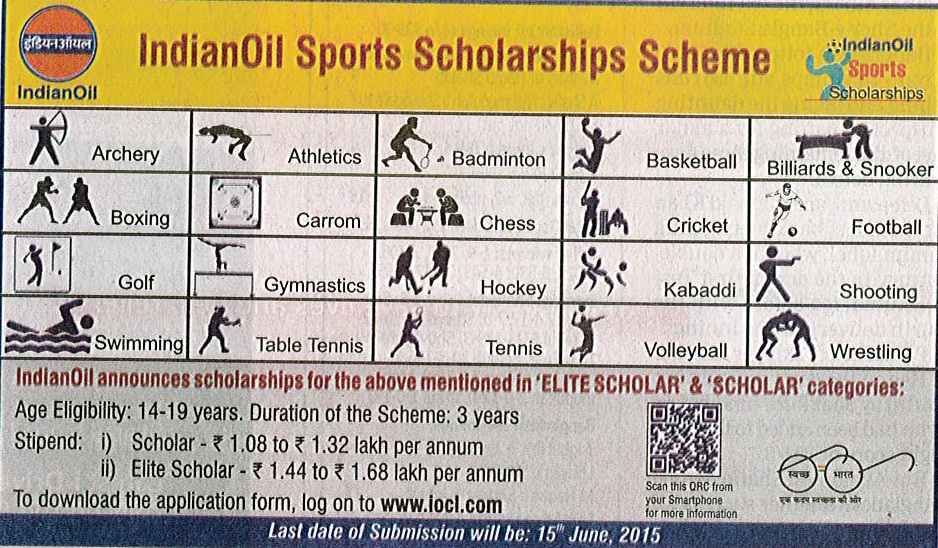IndianOil Sports Scholarships Scheme