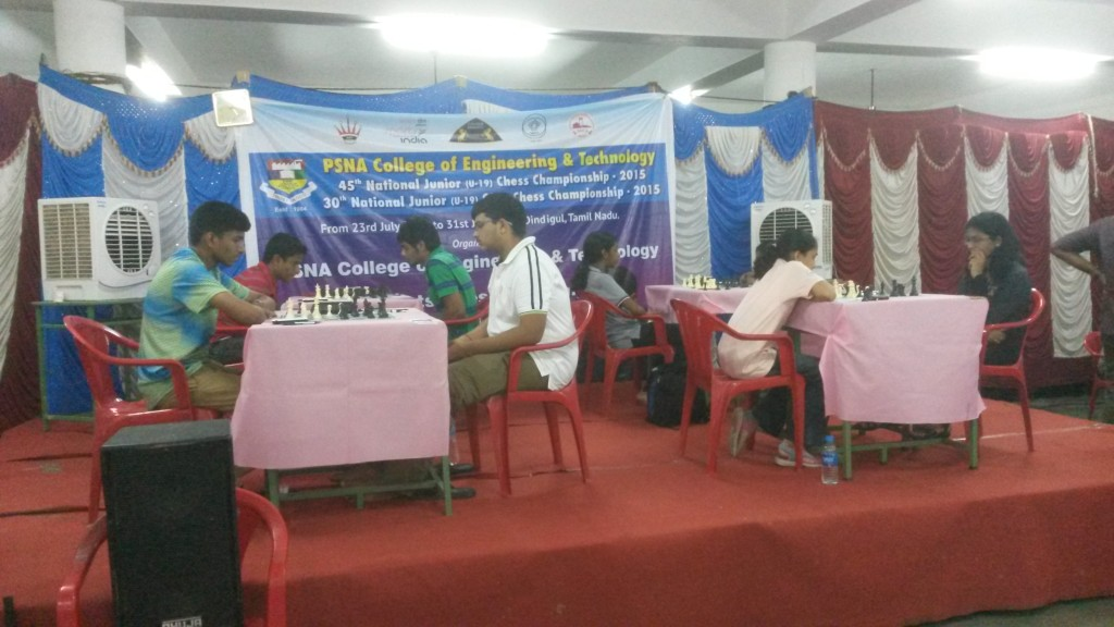 PSNA College of Engineering and Technology National Junior and Junior Girls Chess Championship – 2015