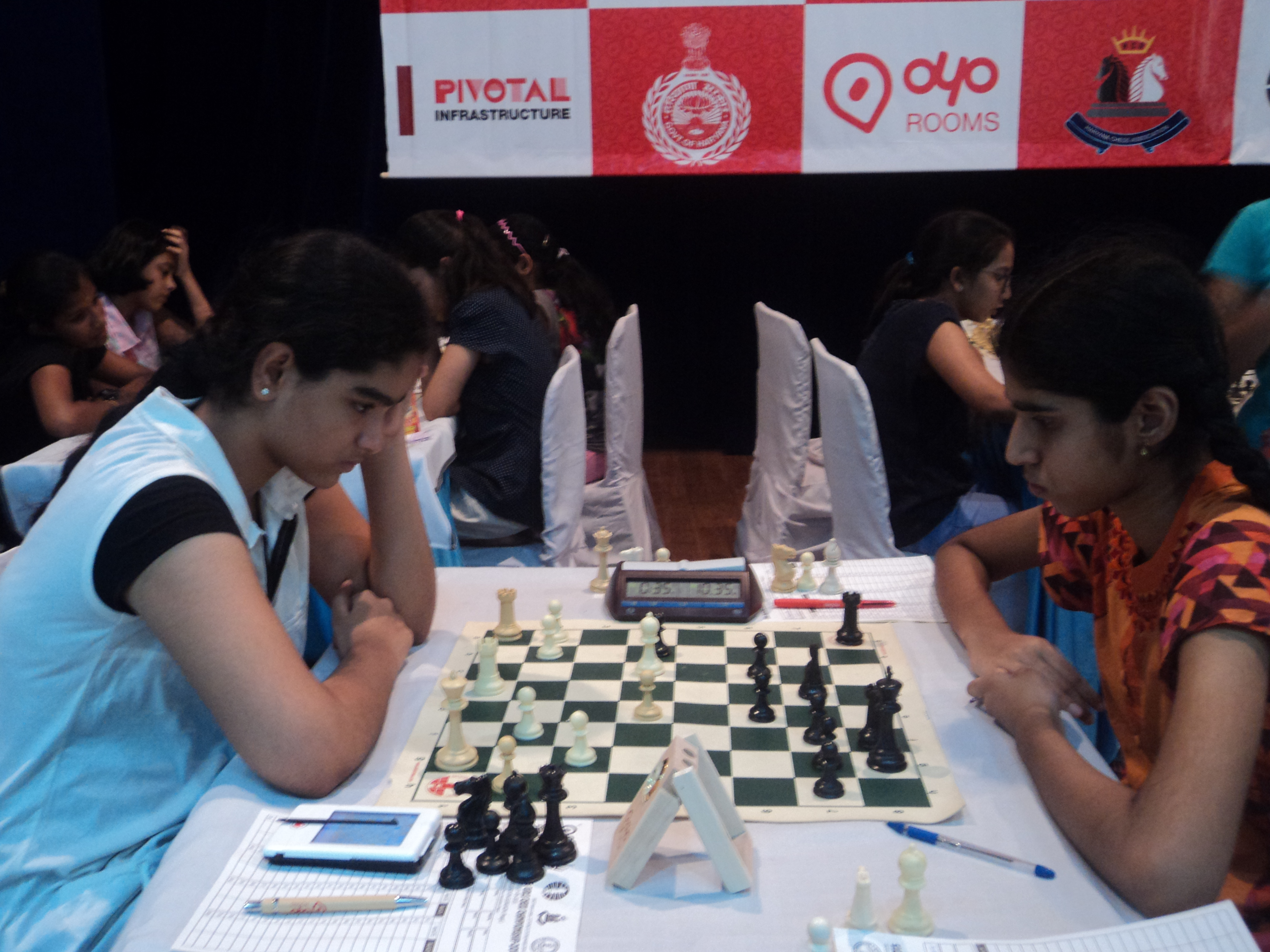 Top Two Seeds Among Leaders In Gurgaon