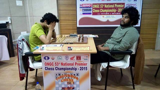 GM-Vidit-Santosh-Gujrathi-maintains-his-unbeaten-record-in-the-championship-and-IM-P-Karthikeyan-slips