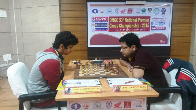 GM Vidit Santosh Gujrathi registered the only win of the day, beating IM Arghyadip Das