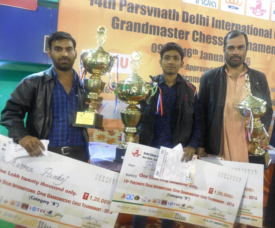 B Category Winners_First Runner Up Pankaj Sharma, Winner Rishabh Nishad & Second Runner Up Amini Habibullah