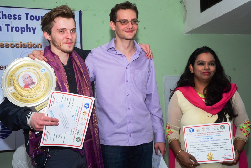 Belous Vladimir is Chennai Open Champion, GM Norm for Vijayalakshmi