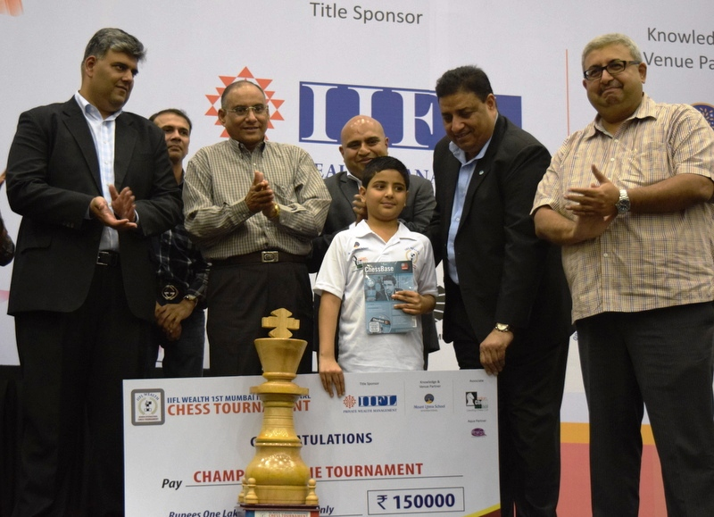 Sadhwani Raunak emerges Champion @ IIFL Wealth Mumbai International Junior Chess 2016