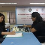 4 Women in Black - top seed and IM Eesha Karavade was held to a draw by WGM Kiran Manisha Mohanti in the third round