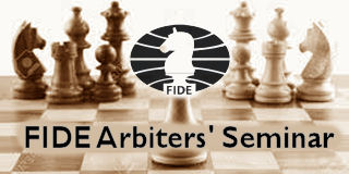 FIDE Arbiter Seminar at New Delhi