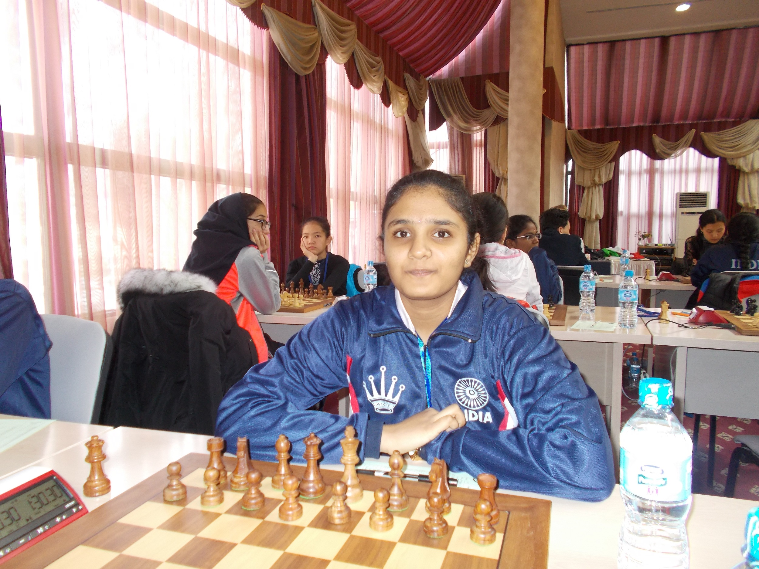 Jishitha and Sahithi on sole lead
