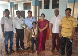 Mr& Mrs.Lanka Ravi being received by Andaman Nicobar Islands Chess Association Officials at Port Blair Airport by Shri.Dinesh Secretary ANCA and officials of the Association.