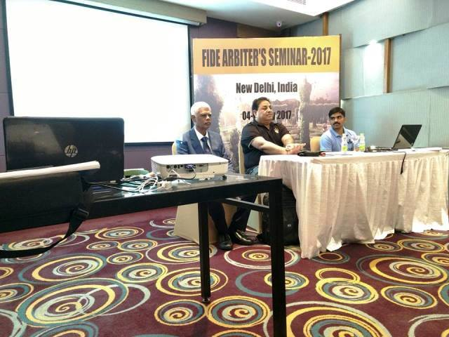 FIDE Arbiter Seminar held at Delhi – 2017 – Results