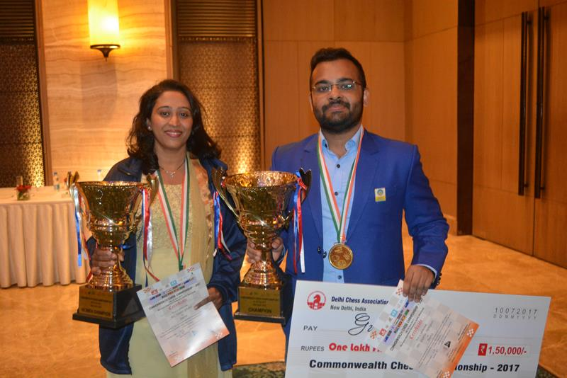 Abhijeet Gupta scores a hat-trick in Commonwealth Chess