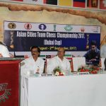 Chief Guest Shri. Achyuta Samanta addressing the gathering
