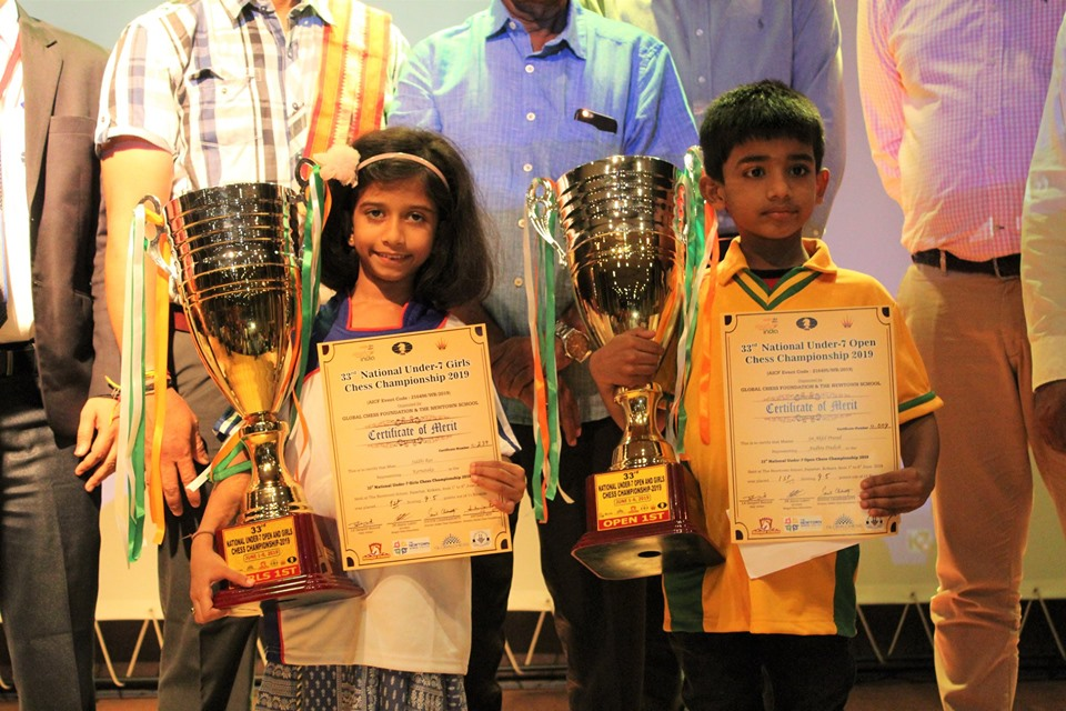 National Under 07 Open and Girls 2019: Sri Akhil Prasad and Siddhi